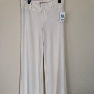 Michael Kors Wide Leg Ivory/Cream Slacks